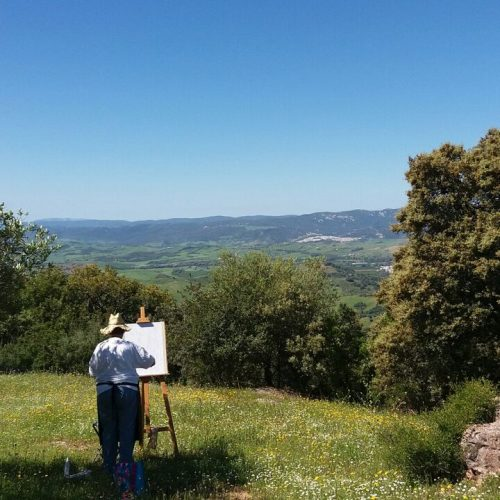 Painting the view landscape